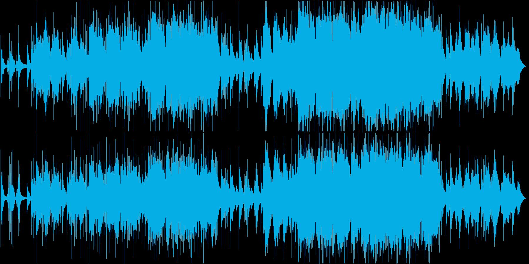 二胡と揚琴のしっとりした楽曲の再生済みの波形