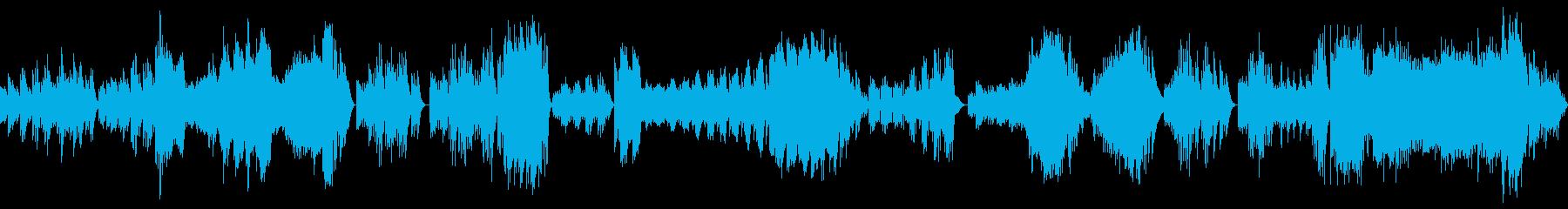 ハイドンピアノソナタ第34番 第一楽章の再生済みの波形