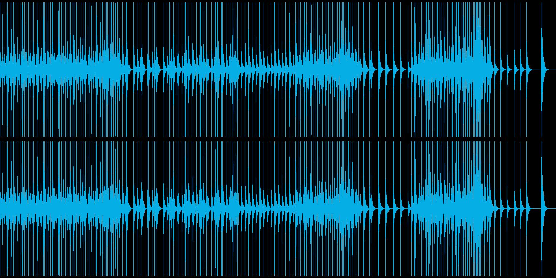 ウッドパーカッションによるリズムのいい曲の再生済みの波形