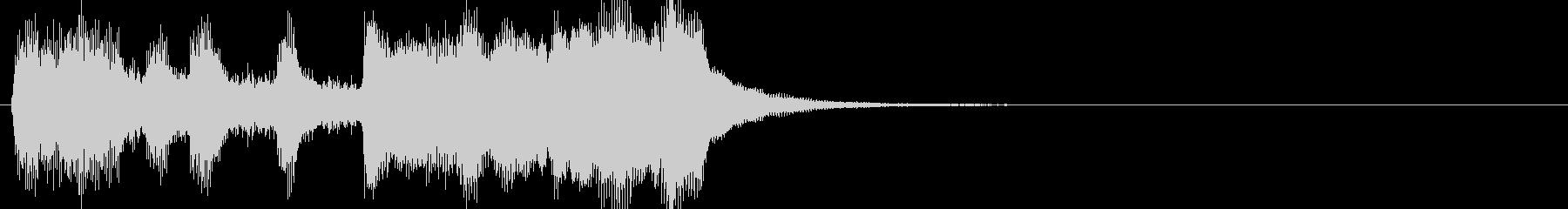 軽い/軽め/小さい ファンファーレ3の未再生の波形