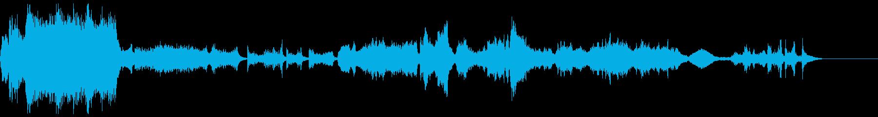 悲しい場面でよく使われるクラシック曲の再生済みの波形