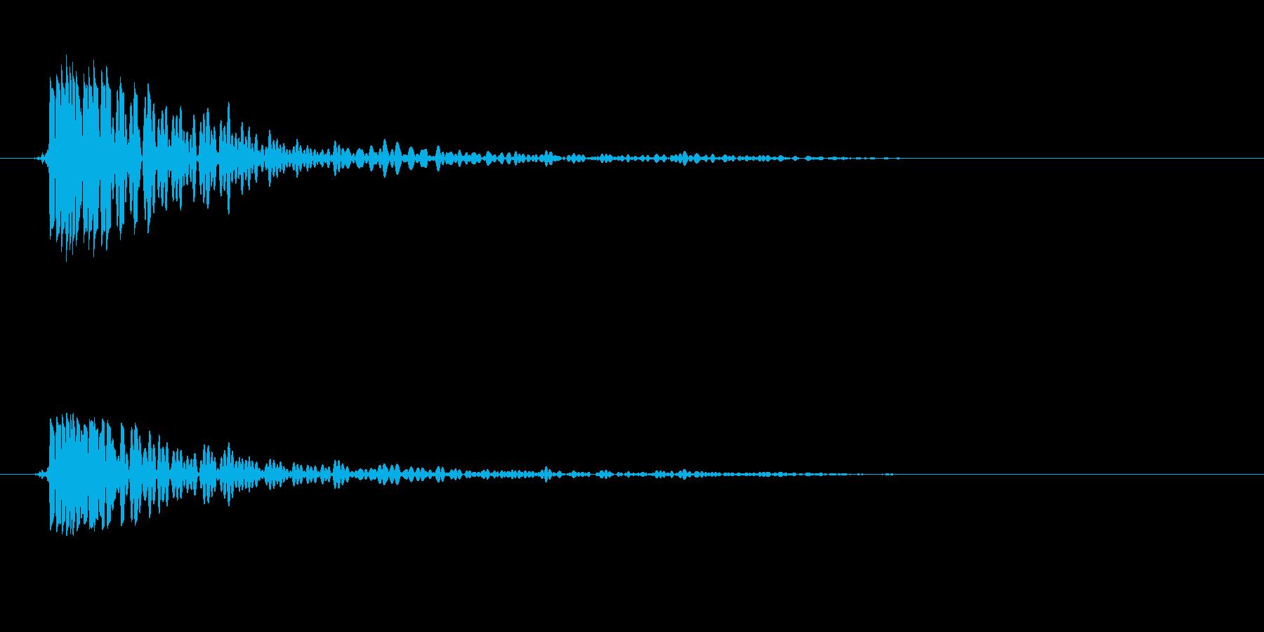 トン(叩く音色)低めの再生済みの波形