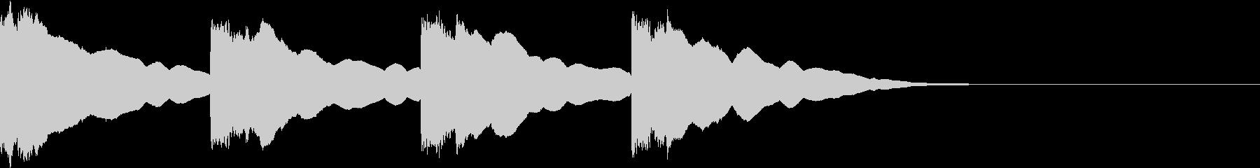 潜水艦の中のような電子音2(4発)の未再生の波形