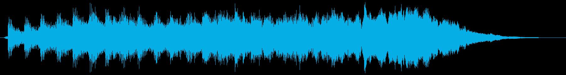 シンセサイザーの爽やかサウンドロゴの再生済みの波形