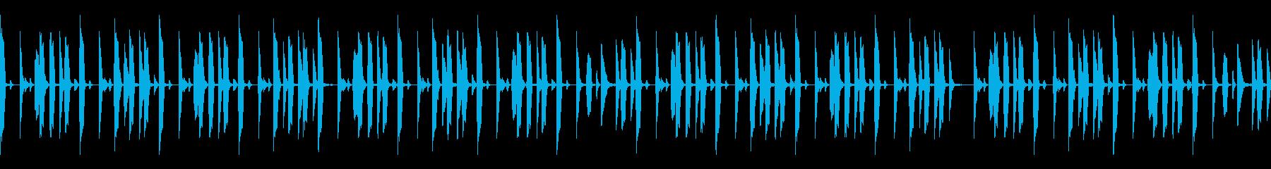 BPM100 ドラムループの再生済みの波形