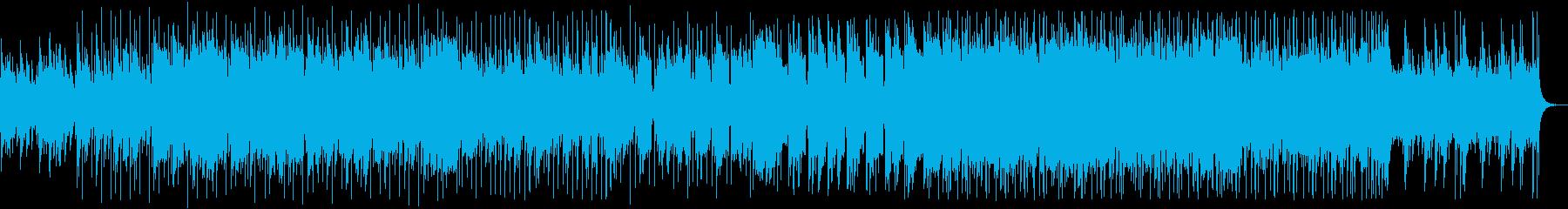 クラリネットとガットギターの情熱的な曲の再生済みの波形
