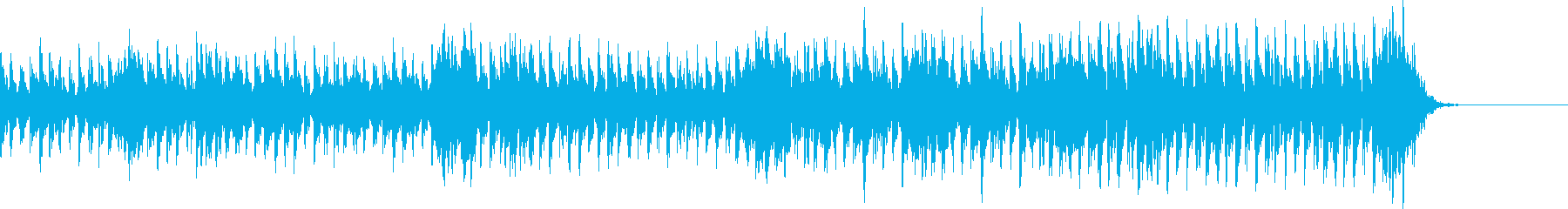 おっちょこちょいな感じの曲の再生済みの波形