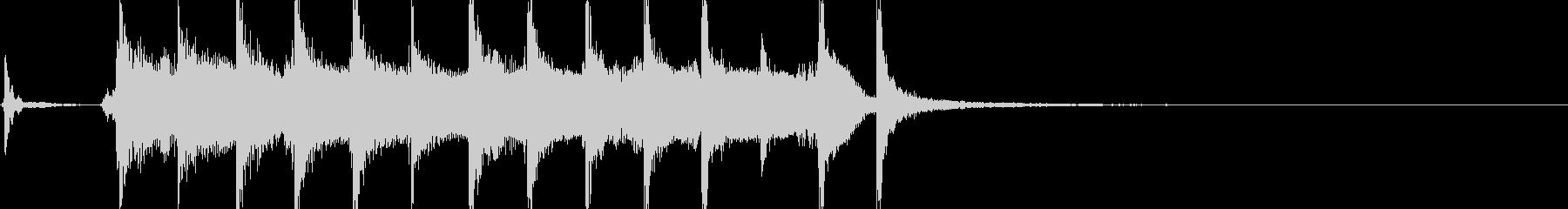 和風ジングル 切り替え用三味線+尺八の未再生の波形