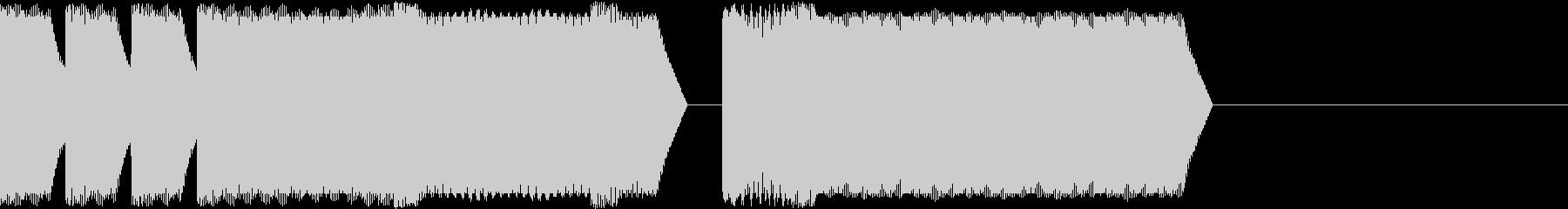 ファミコン風アイテムゲット時SEの未再生の波形