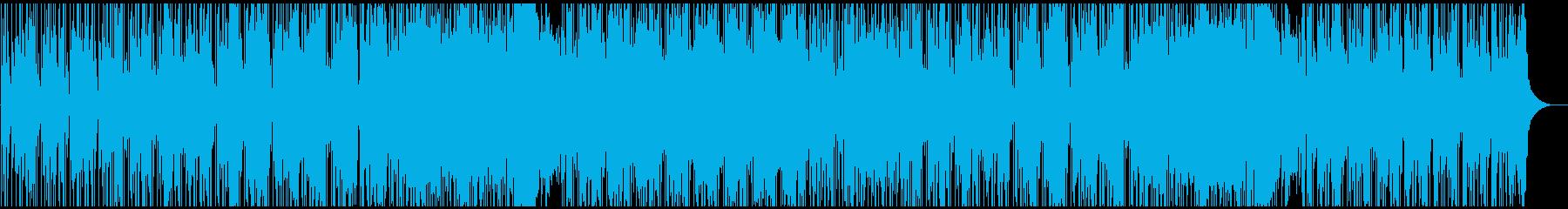 スタイリッシュなギターロックファンクの再生済みの波形
