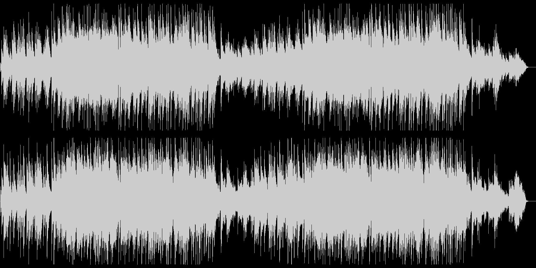 アコギとピアノによる爽やかで感動的な曲の未再生の波形