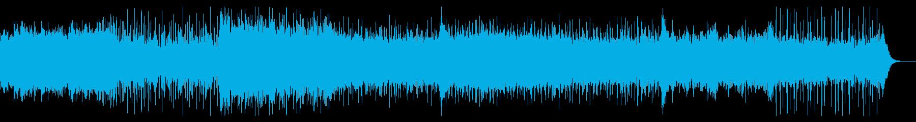 ホラー向けのごわごわしたシネマドローンの再生済みの波形