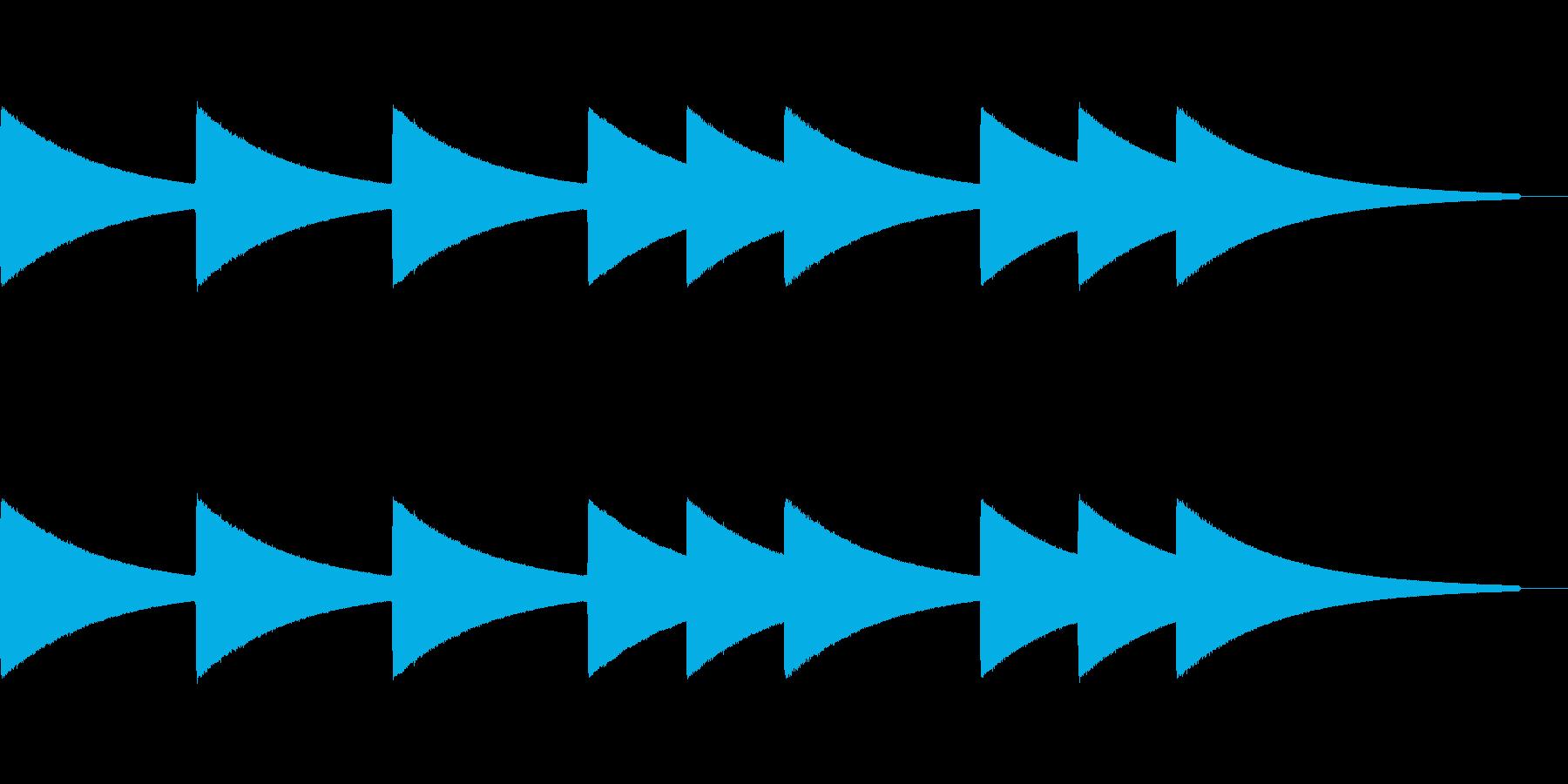 コンビニの入店音をイメージしたジングル…の再生済みの波形