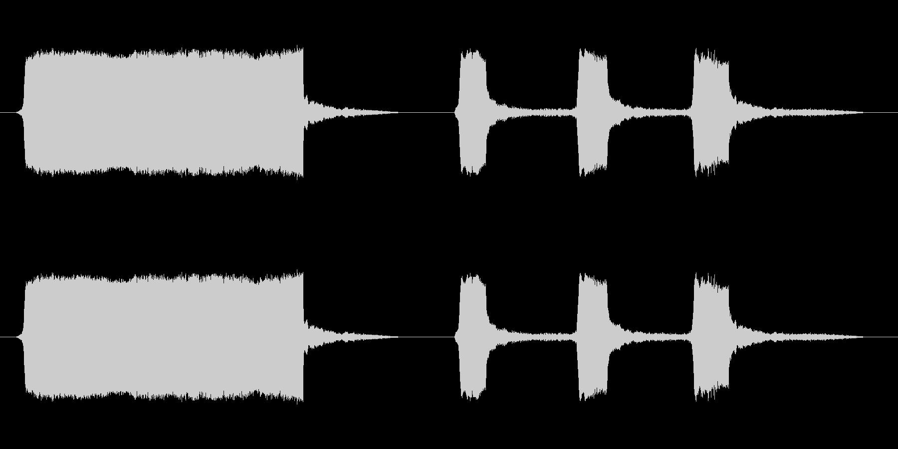 船のサイレン2の未再生の波形