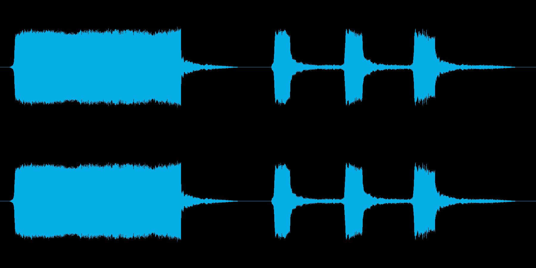 船のサイレン2の再生済みの波形