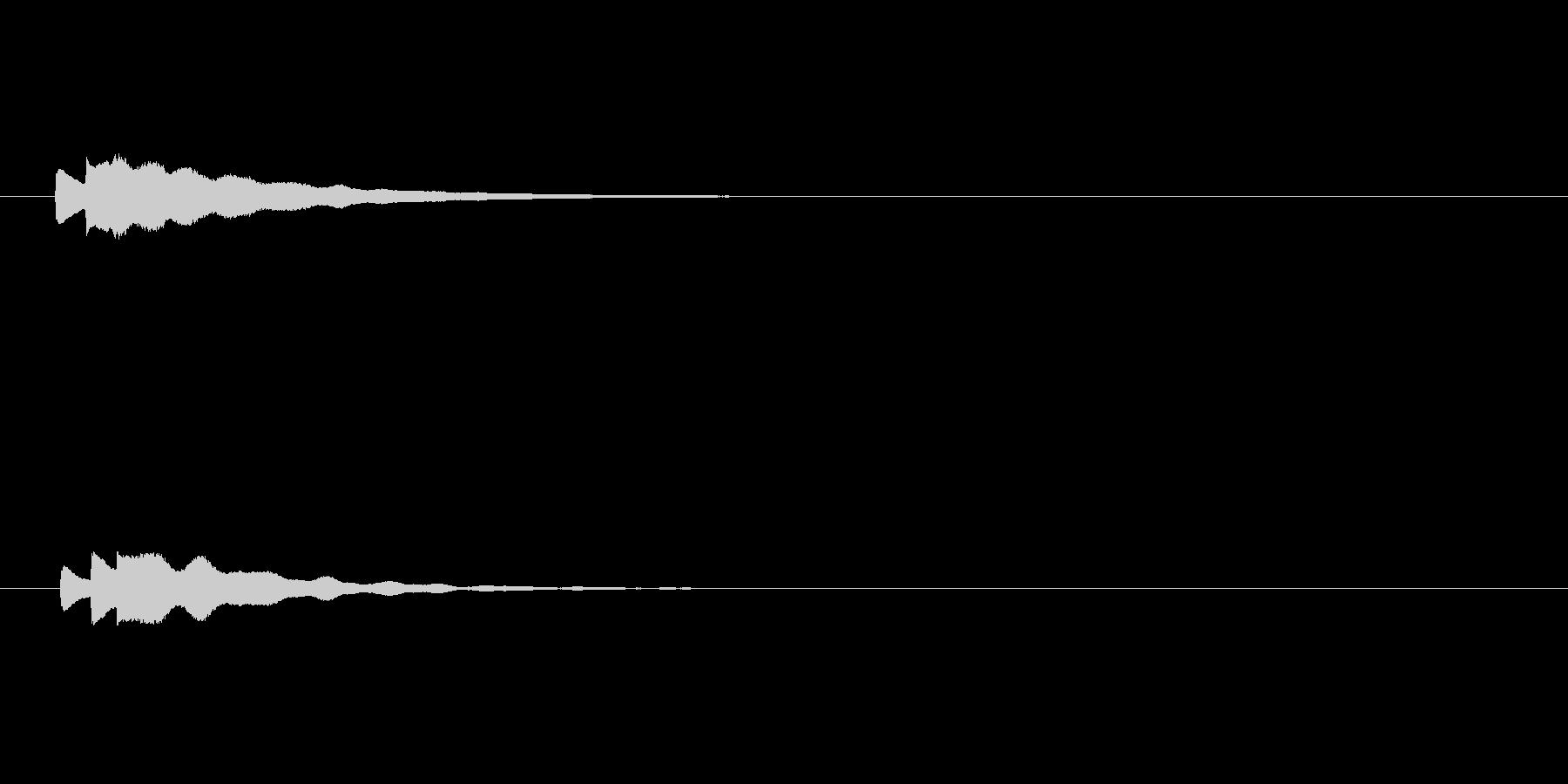 【アクセント24-1】の未再生の波形