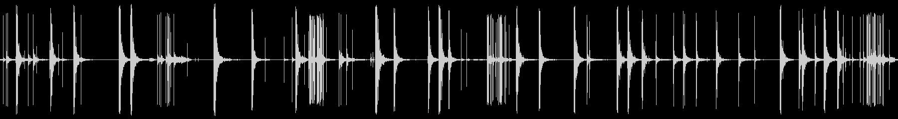 爆発花火発射バーの未再生の波形