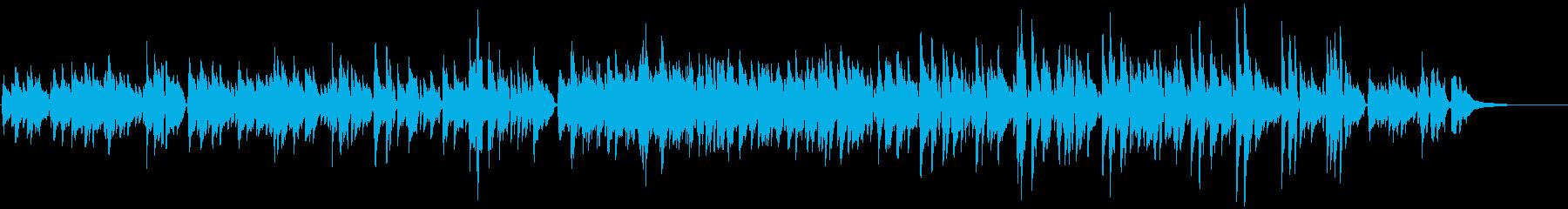 ガットギターによるほのぼのとした曲の再生済みの波形