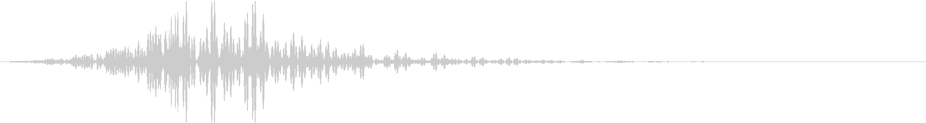 重低音のフェード音2の未再生の波形