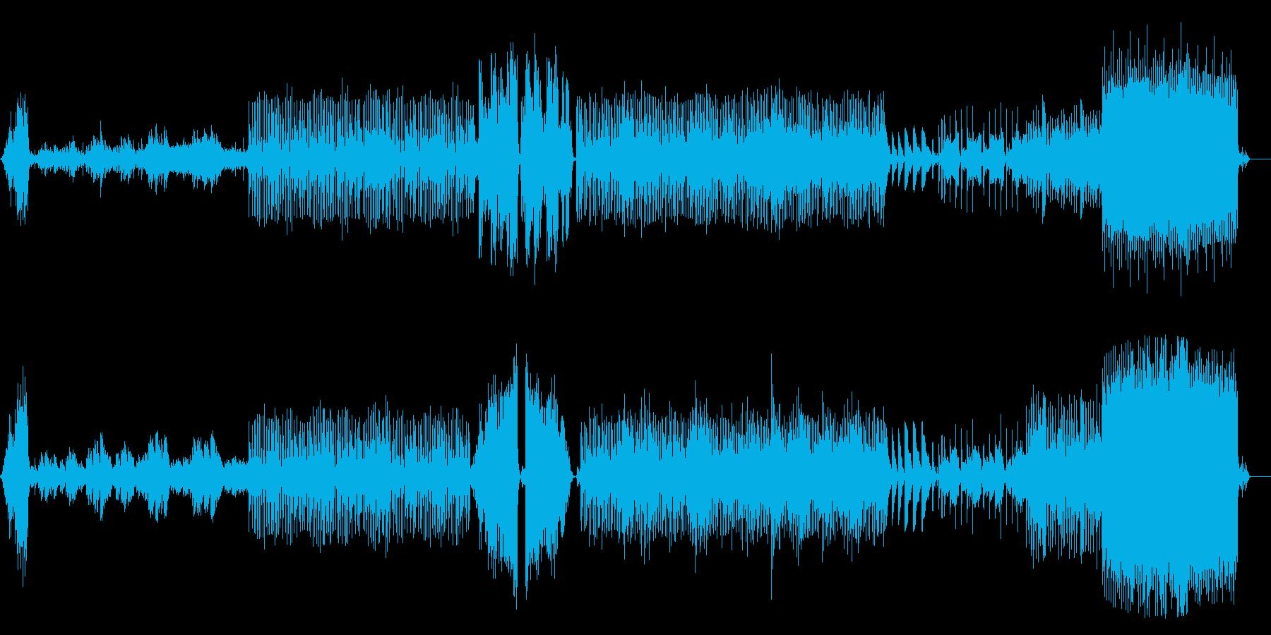 サスペンスやホラー用 怖いピアノの旋律曲の再生済みの波形