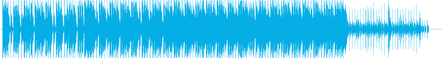 Vlog動画っぽい、爽やかで明るい楽曲の再生済みの波形
