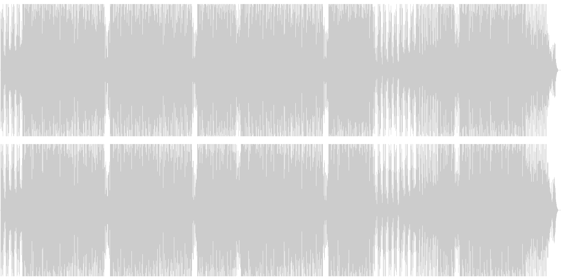 リズミカルなファンキートラックの未再生の波形