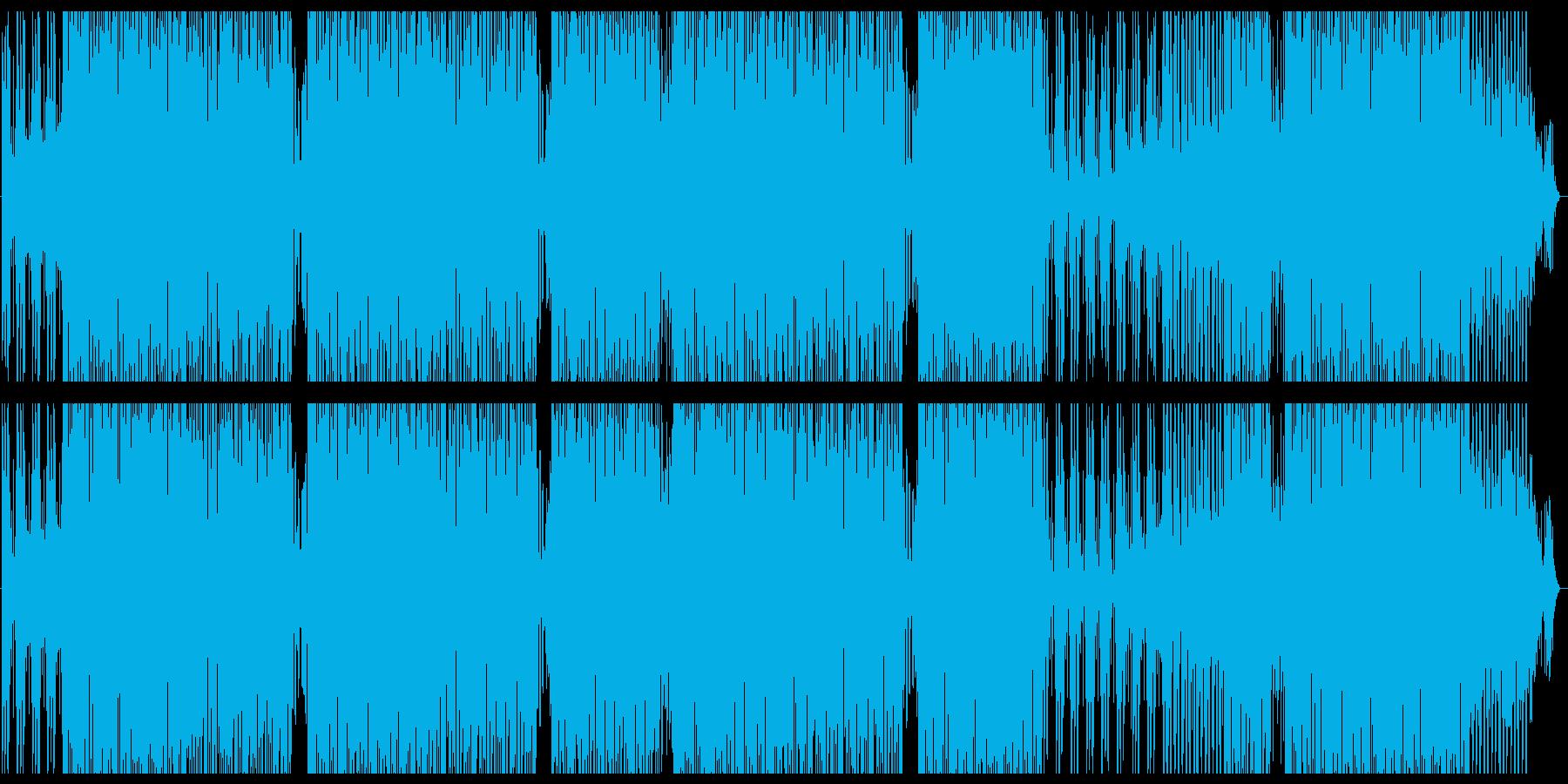 リズミカルなファンキートラックの再生済みの波形