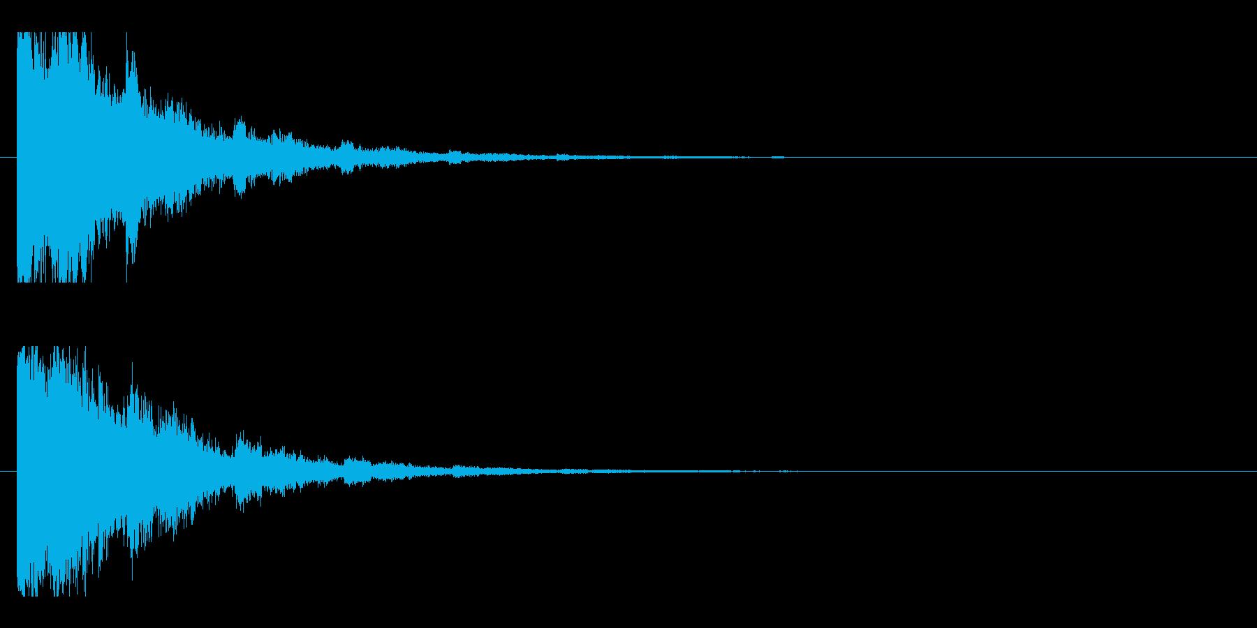レーザー音-05-2の再生済みの波形