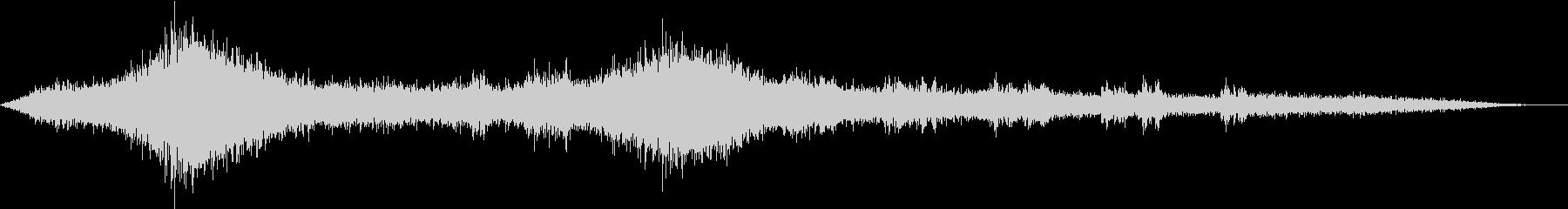【生録音】車や電車が行き交う高架下の音の未再生の波形