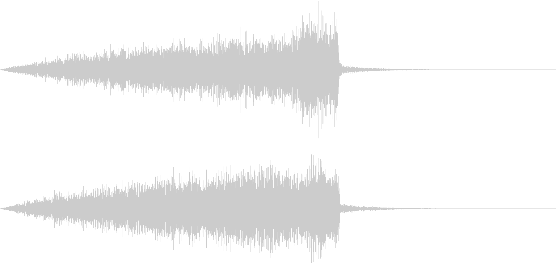 結論を出す瞬間の音の未再生の波形