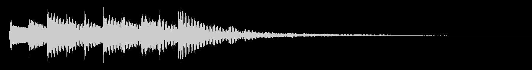 謎に挑む雰囲気のチル系ベルのジングルの未再生の波形