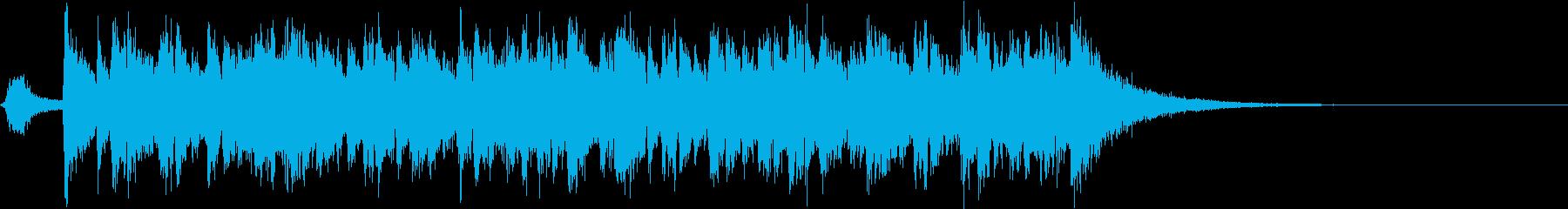 和風オープニングジングル・和太鼓・三味線の再生済みの波形