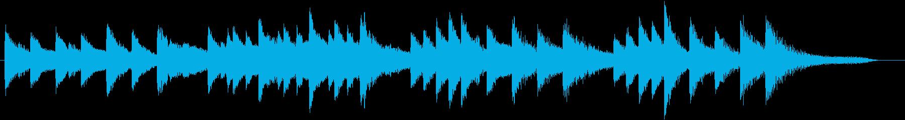 童謡・月モチーフのピアノジングルCの再生済みの波形