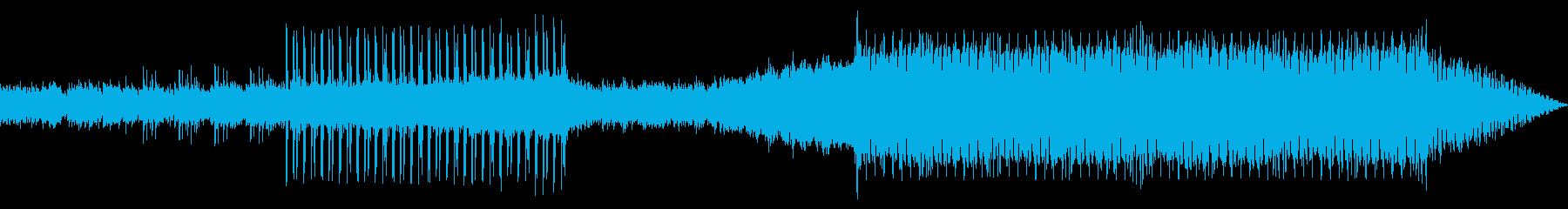 夜空をイメージしたエレクトロミュージックの再生済みの波形