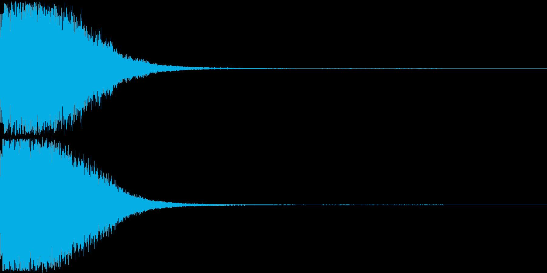 刀 剣 ソード カキーン キュイーン11の再生済みの波形