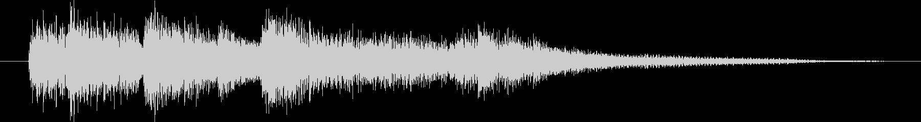 ピアノ生演奏/CM前・ジングル・ニュースの未再生の波形
