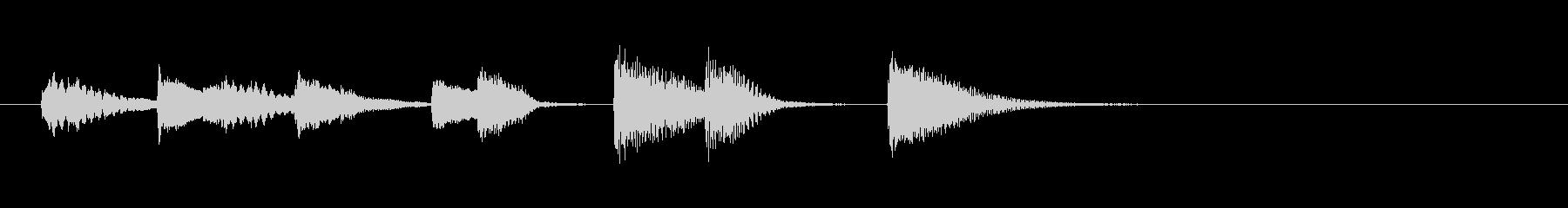 オチピアノ② ズッコケ 場面転換の未再生の波形