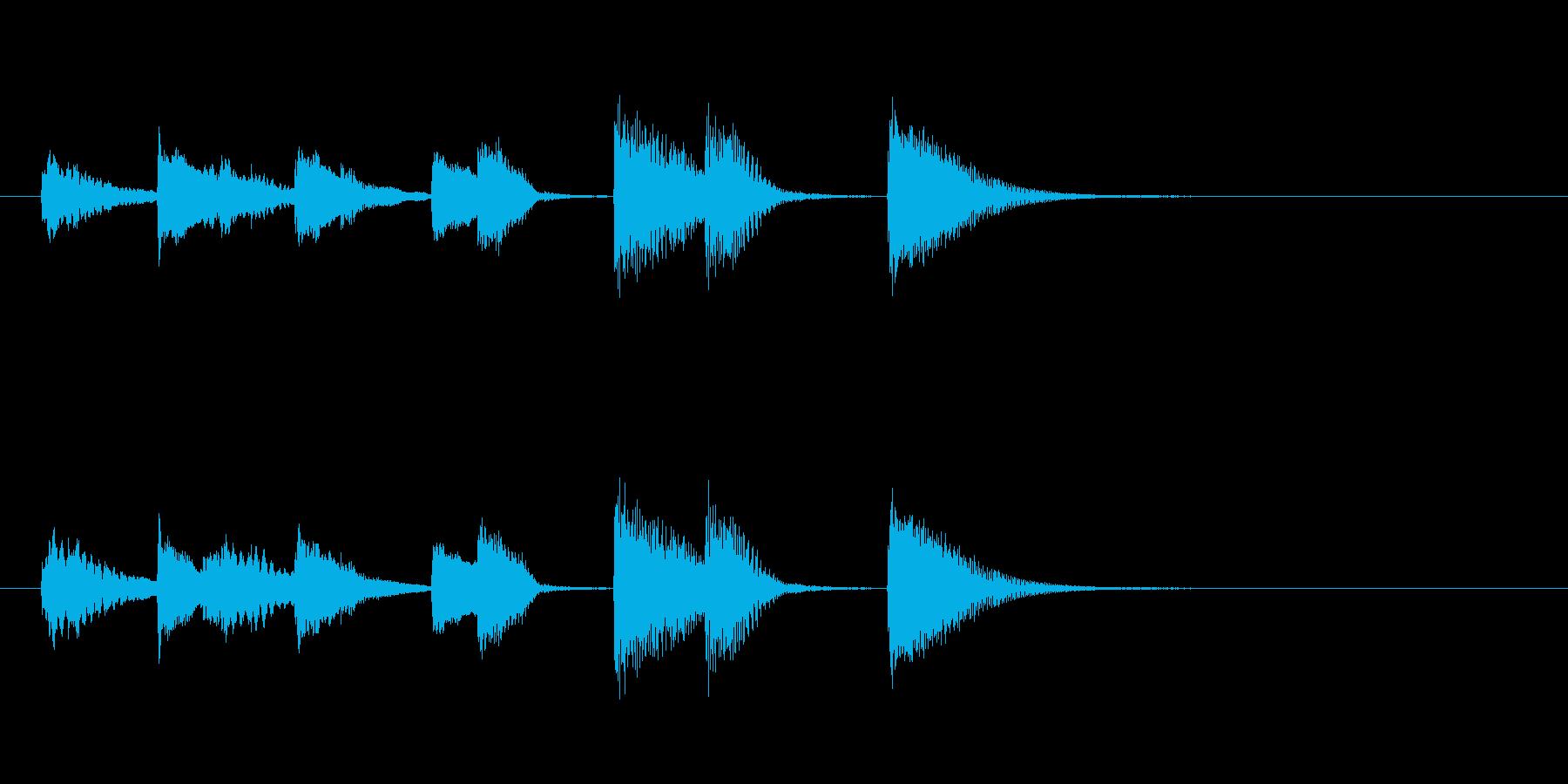 オチピアノ② ズッコケ 場面転換の再生済みの波形