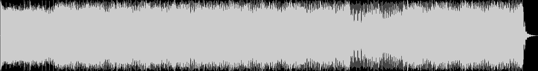 パワフル、アップテンポ、未来的サウンドの未再生の波形