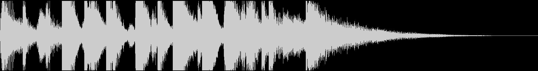 シンプルなピアノジャズバンドのジングルの未再生の波形