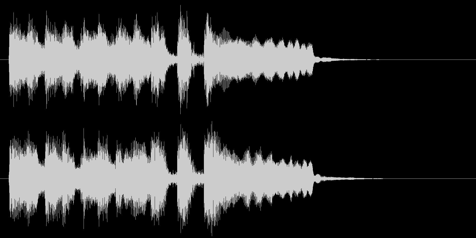 ステージクリア、レベルアップ等のジングルの未再生の波形