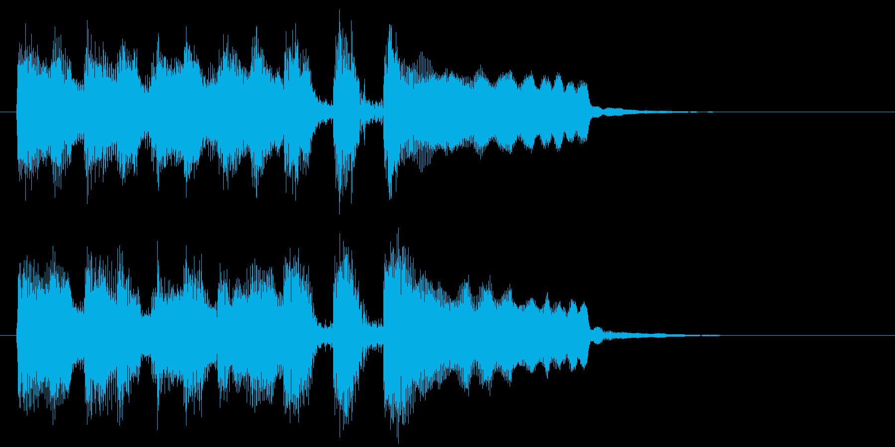 ステージクリア、レベルアップ等のジングルの再生済みの波形