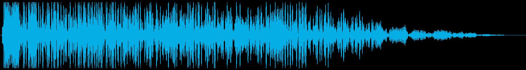 ドカーン(爆発の音)遠いの再生済みの波形