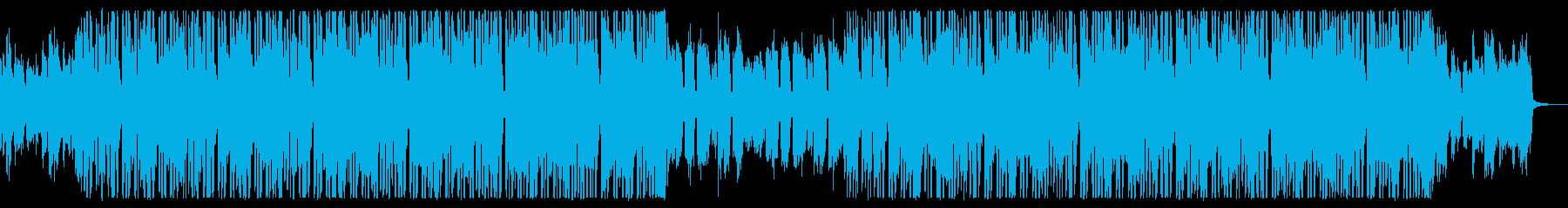 ブラス音がメインのインストヒップホップの再生済みの波形