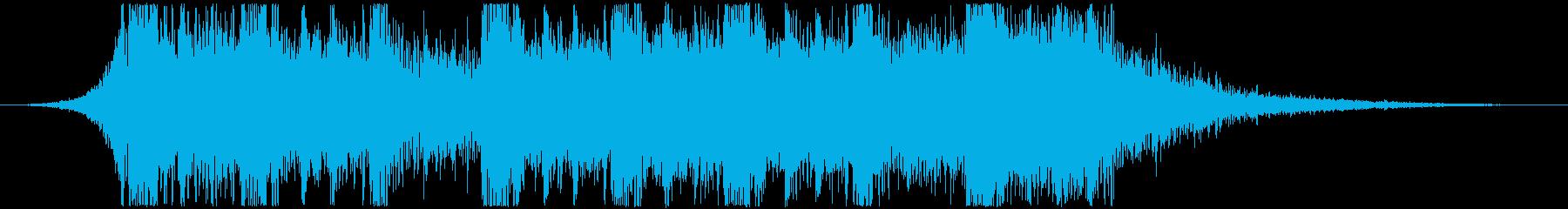 エレクトロ系のジングルですの再生済みの波形