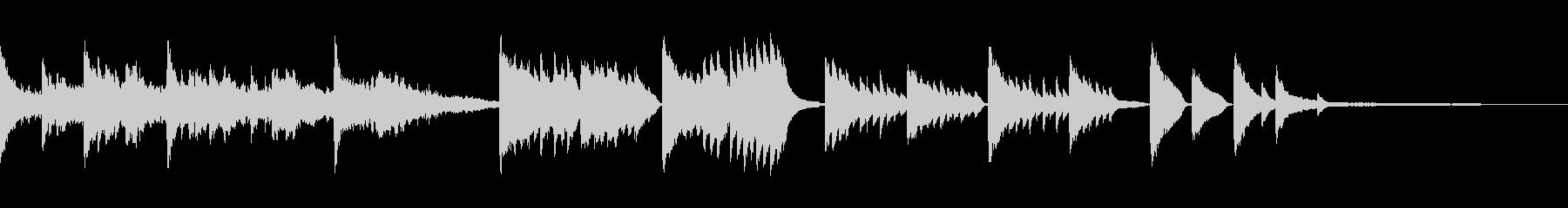 神秘的なサウンドトラックの未再生の波形