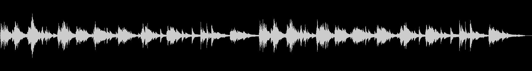 しっとりピアノソロ、風景(自然、夜景)の未再生の波形