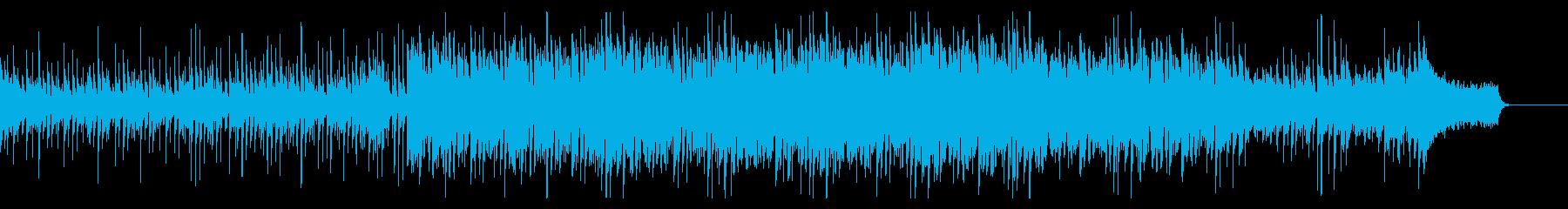 エレクトロなピアノの楽曲の再生済みの波形
