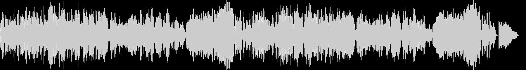 クラシカルな明るい朝のBGMの未再生の波形
