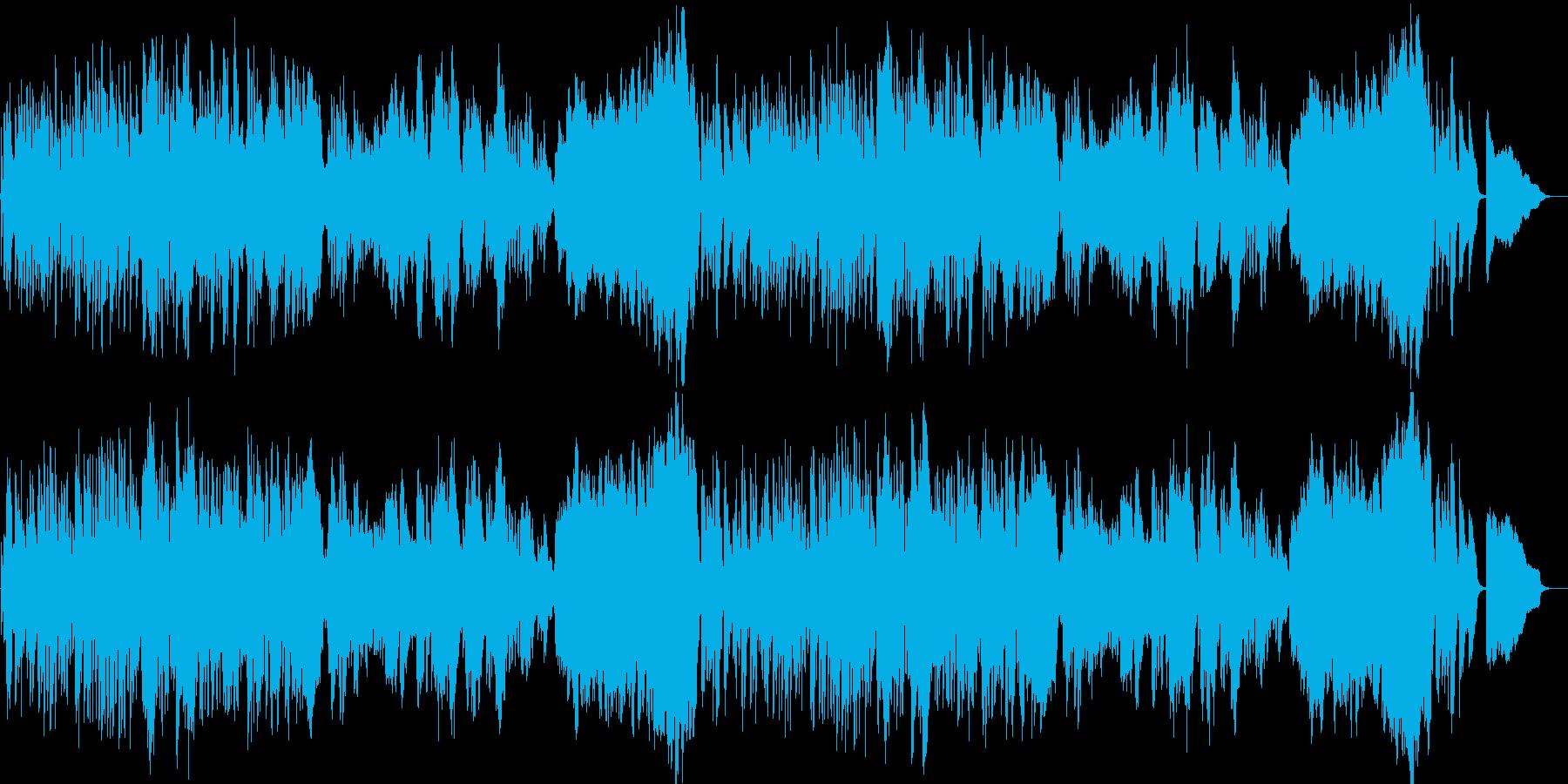 クラシカルな明るい朝のBGMの再生済みの波形